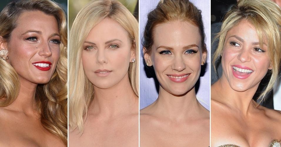 Maquiagem loiras famosas