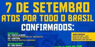 Protestos de 7 de setembro por todo Brasil