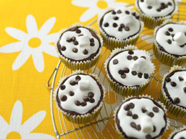 Cupcakes de Chocolate e Marshmallow