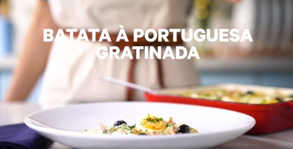 Batata à Portuguesa Gratinada