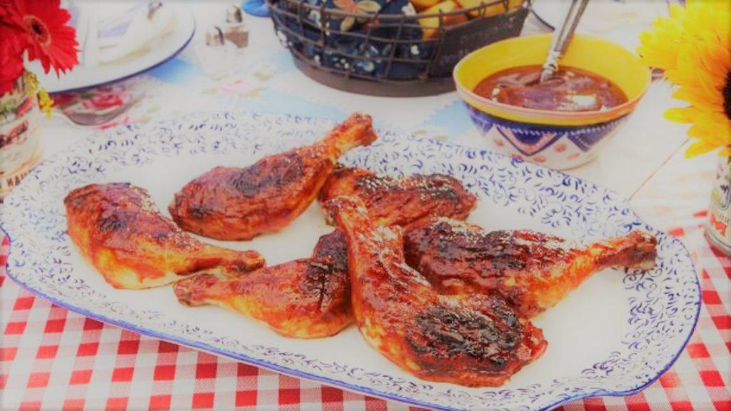 Churrasco de Frango com Molho Barbecue