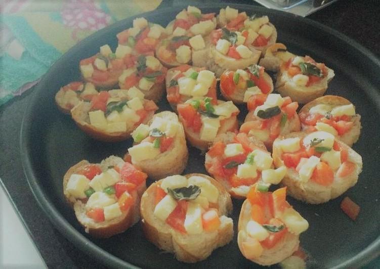 Brusquetas deliciosas